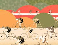 Love his style of art - Cycle Tour Print by Neil Stevens, via Behance