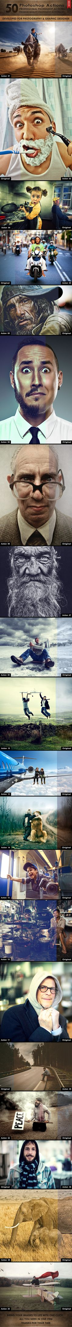 50 Photoshop Actions #photoeffect Download: http://graphicriver.net/item/50-photoshop-actions/10114086?ref=ksioks