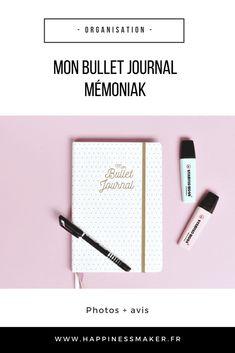 Vous souhaitez débuter un Bullet Journal mais vous n'osez pas ? Découvrez Mon Bullet Journal Mémoniak et son guide pas à pas !