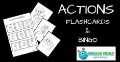 English Freak | Blog o nauczaniu języków obcych: ACTIONS BINGO AND FLASHCARDS (PRINTABLES)