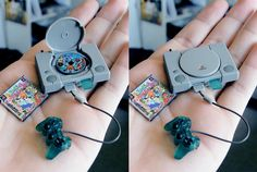 Tiny PlayStation. It's so beautiful. It's like a fairy's playstation. GASP! What if it is a fairy's ps1?! Dude, that'd be cool.