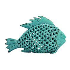 Woodland Imports Enticing Polished Songhua Ceramic Fish Figurine