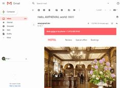 AMP Email Examples Social Proof, Email Design, Hotel Reviews, Animation, Amp, Animation Movies, Motion Design, Email Newsletter Design