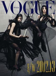 Vogue Italia July 2012 : Vanessa Axente, Mackenzie Drazan, Julia Nobis, + More : Steven Meisel