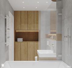 Projekt mieszkania. Kraków Nowe Czyżyny - Mała łazienka bez okna, styl skandynawski - zdjęcie od PRØJEKTYW   Architektura Wnętrz & Design