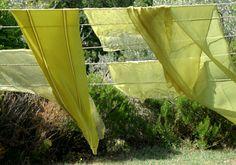 gefärbte grüne Schals