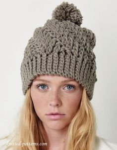 Crochet winter hat pattern free