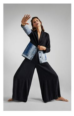 Shop laHybrid Jacket. online | Desigual.com Denim Blazer, Casual Blazer, Casual Chic, Jogging, Girly, Jackets, Pants, Shopping, Fashion