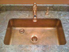 Copper Kitchen Sinks Signature Kitchen Copper Sink   Circle City  Copperworks. RADIUSED INTERIOR CORNERS Are