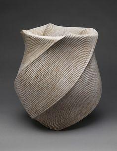 Listening to the Waves (Choto), Sakiyama Takayuki (Japanese, born 1958; active Kamomura, Shizuoka Prefecture), Date: 2004, Stoneware with sand glaze.