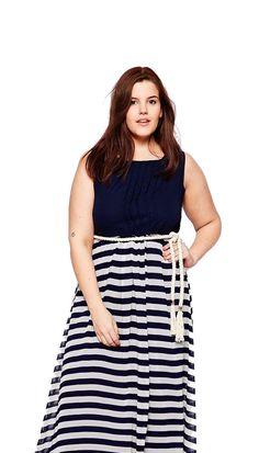 rope belt maxi dress
