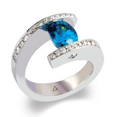 Unique Tension Set Wedding Ring