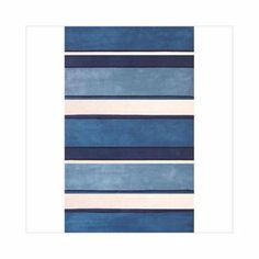 Too Big, American Home Rug Co. Beach Rug AT036 Blue / White Ocean Stripes Rug