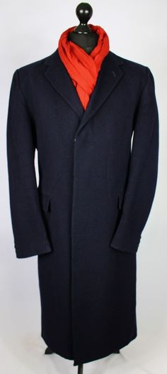10c0e410f7a5 Burberry Vintage Navy Blue Coat Designer 42L WOOL   CASHMERE 1520  Burberry   OtherCoatsOvercoat