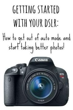 Getting started with your DSLR: How to get out of auto mode and start taking better photos! by bertie