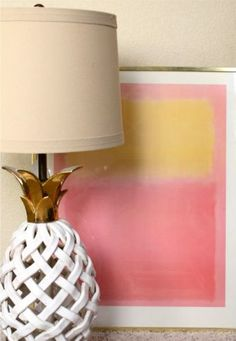 """That's a pineapple lamp AND look at the """"not-trying-too-hard"""" artwork behind it!"""