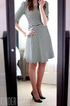 Kathy Striped Fit & Flare Dress from Stitch Fix #stitchfix #dress #fashion