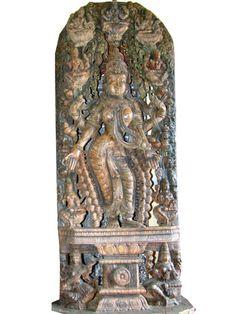 Lakshmi Statue Holding Lotus Wood Carving Sculpture Goddess 115 Inch | eBay