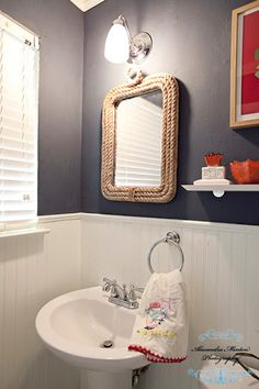 Reader Redesign: Bathroom Red, White & Blues | Young House Love