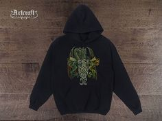 Dragons fantasy Hoodie for men – Boy's fantasy rpg style hoodie. Find this and other fantasy and alternative stuff at: https://www.etsy.com/shop/ArtCraftGiftHouse?ref=l2-shopheader-name Themes: Hoodie tee clothing, Dragon monster beast, Monstrous creature, Creeper, Medieval fantasy, Rpg LOTR warcraft, Mens womens boys, Fans gift for him, Dark ages Black, Drawing painting, League of legends, Rts mmorpg throne, Skyrim