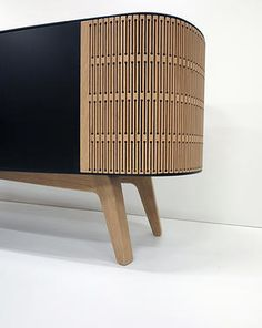 Mr A-Linea: a sideboard furniture based on the flexibility of laser cut wood.