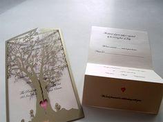 Love tree - custom laser cut wedding invitations