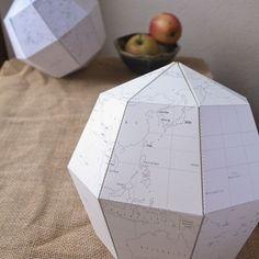 Le Paper Globe – un patron de globe terrestre en papier