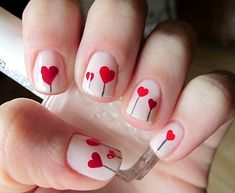 Nails & Nail Art ♥ / Heart Lollipops Valentine's Day Mash-up! - Shellac Gel Polish
