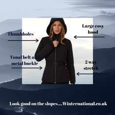 This Fusalp ski jacket is a wonderful, understated, longer length ski jacket for women. Ski Jackets, Jackets For Women, Black Ski Jacket, Ski Wear, Metal Buckles, Winter 2017, Skiing, Boutique, Chic