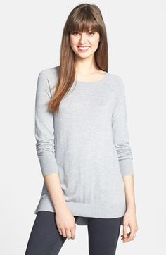 Halogen® High/Low Tunic Sweater available at #Nordstrom - in blue small
