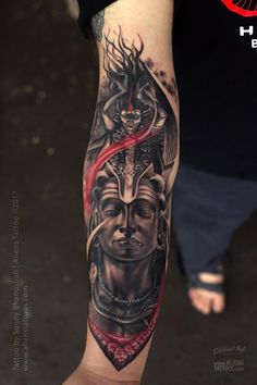 Lord Shiva-Kali Tattoo by Sunny Bhanushali at Aliens tattoo India Kali Tattoo, Shiva Tattoo Design, Buddha Tattoo Design, Buddha Tattoos, Ganesha Tattoo Sleeve, Wrist Tattoos For Guys, Forearm Tattoos, Body Art Tattoos, Sleeve Tattoos