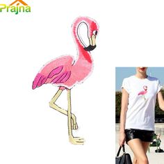 Animal Bird Patch Clothing Custom Flamingo Patch Shirt Iron Clothes Embroidered Patch Stickers Sewing Patches For Jackets Sewing Patches, How To Iron Clothes, Embroidered Jeans, Flamingo, Sewing Crafts, Arts And Crafts, Embroidery, Bird, Stickers