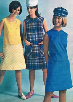 Penneys catalog 1966.   Unknown model, Colleen Corby and Cay Sanderson.