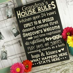 Grandma's House Rules | Mother's Day craft ideas