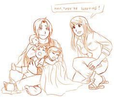 Ed and Winry's kids! (part 2/3) | Art: m7angela