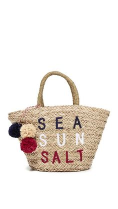 Shop for Sea Sun Salt Straw Bag by Sundry at ShopStyle. Womens Designer Bags, White One Piece, Straw Tote, New Handbags, Basket Bag, Best Bags, Summer Bags, Leather Craft, Designing Women