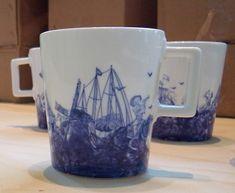 ceramic dinnerware created by Piet Hein Eek for douwe egberts, an international supplier of coffee system. #dutch