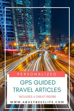 Heading on holiday and need your own personalized gps guided travel guide? Look no further. You can have articles for FREE which are personalized to your trip and your taste. You make the rules. Click through to read more.