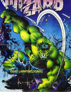 SAM KIETH INCREDIBLE HULK MARVEL COMIC BOOK POSTER RAMPAGE DEATH TO MERLIN SMASH