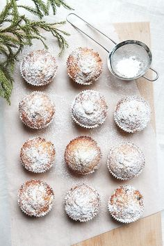 christmas stollen muffins//