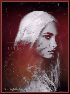 Rhaella Targaryen, daughter of King Aegon V, & sister/wife of King Aerys II. They had three children Rhaegar, Viserys and Daenerys. After the death of Rhaegar in the Battle of the Trident, Rhaella and Prince Viserys fled to the Targaryens ancestral seat of Dragonstone. Aerys would perish during the Sack of King's Landing; Rhaella died giving birth to Daenerys during a great storm. After her death the children were taken across the Narrow Sea by loyalists to live in exile in the Free Cities.