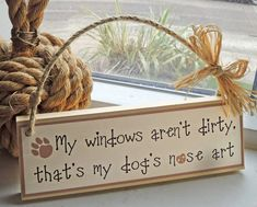Doglover's little wooden sign for the home by SallyGristArtwork