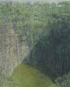 blastedheath: Armando Morales (Nicaraguan 1927-2011), Cenote, Yucatán, México, 1995. Oil and beeswax on canvas, 63½ x 50½ in.