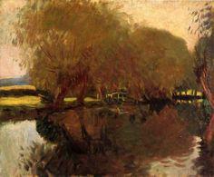 A Backwater At Calcot Near Reading 1888