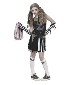 Zombie Cheerleader Girls Costume. We should do this for Halloween!  sc 1 st  Pinterest & Zombie Cheerleader Costume for Girls | Halloween | Pinterest ...