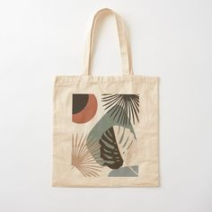 'Minimal Yin Yang Monstera Fan Palm Finesse ' Tote Bag by anitabellajantz Printed Tote Bags, Cotton Tote Bags, Reusable Tote Bags, Tods Bag, Summer Tote Bags, Tote Bags Handmade, Embroidery Fashion, Shopper Bag, Medium Bags