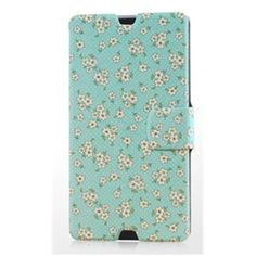 Gview Fashionable Slim Garden Flowers Painting Series PU Leather Case For Sony Xperia Z