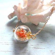 極小テラリウムボール ネックレス