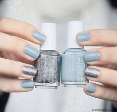 And these sexy Latest Easy Nail Art Designs for Short Nails 2016 will make your cute nails the next most beautiful thing on earth after you. Love Nails, How To Do Nails, Pretty Nails, My Nails, Chic Nails, Gorgeous Nails, Simple Nail Art Designs, Short Nail Designs, Light Blue Nail Designs