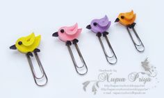 nupur creatives: Quilled Bird Bookmarks
